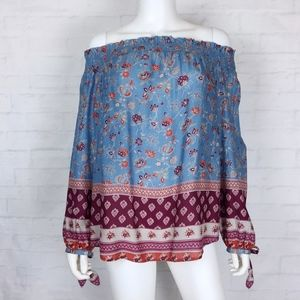 Beach Lunch Lounge Boho Off the Shoulder Top